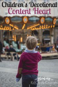 Contentment devotional for kids