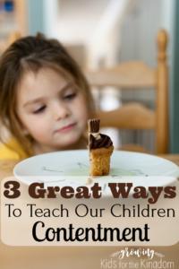 Teaching Children Contentment