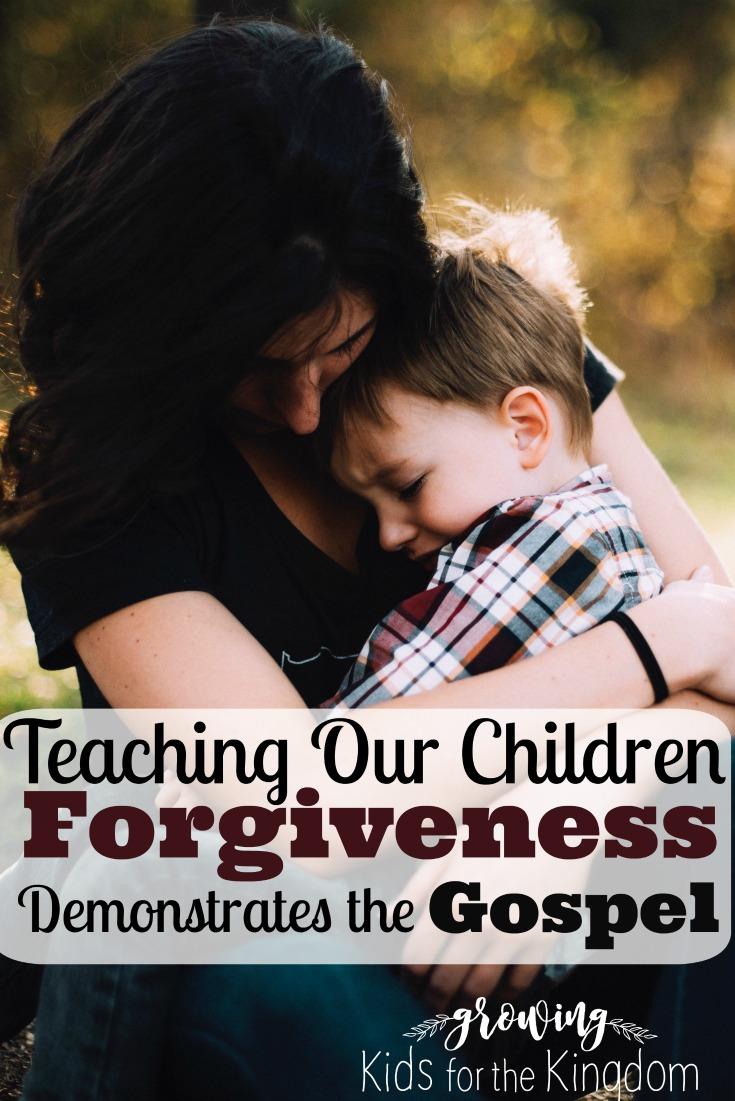 Teaching Kids Forgiveness Demonstrates the Gospel