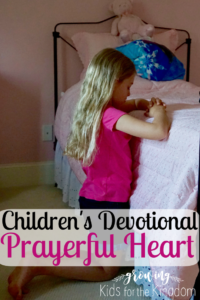 Devotional for children on prayer