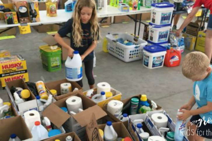 Children Serving during Hurricane- Growing Kids for the Kingdom