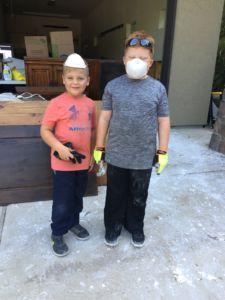 kids serving after hurricane- growing kids for the kingdom