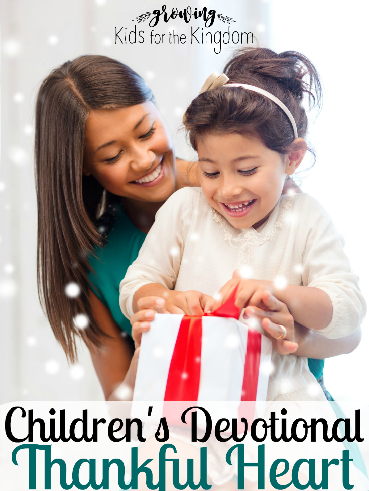 Children's Devotional on Thankfulness