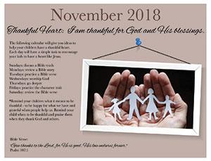 Thankful Heart Calendar