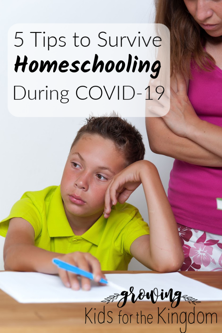 5 Tips to Survive Homeschooling with COVID-19